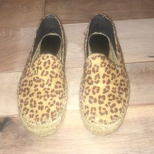 Billabong Leopard Calf Hair Like Espadrilles 7